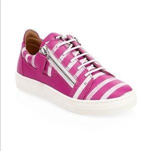 Giuseppe Zanotti girls stripe leather sneakers